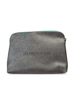 It's Pretty in Here Makeup Bag - Gray